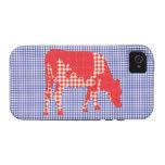 Vaca frisia, koe de Friese iPhone 4 Carcasa