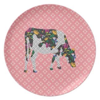 Vaca frisia, koe de Friese Plato De Cena