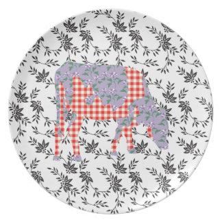 Vaca frisia, koe de Friese Plato Para Fiesta