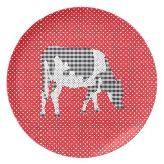 Vaca frisia, koe de Friese Platos Para Fiestas