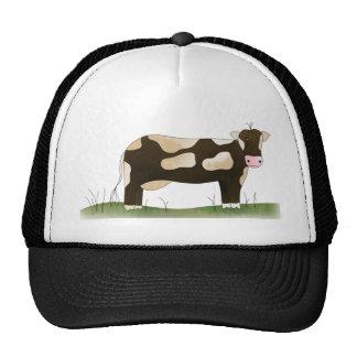 vaca gorros bordados
