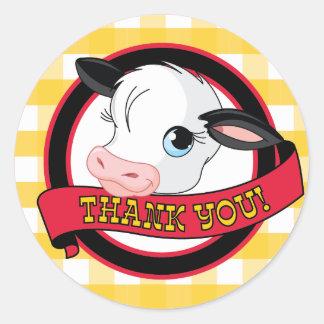 Vaca - gracias pegatina