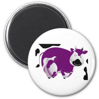 Vaca grande grasa imán redondo 5 cm