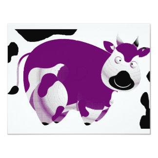 """Vaca grande grasa invitación 4.25"""" x 5.5"""""""