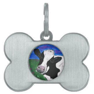 Vaca, granja, animal, becerro rural, pintado a placas mascota