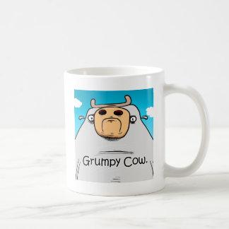 Vaca gruñona taza de café