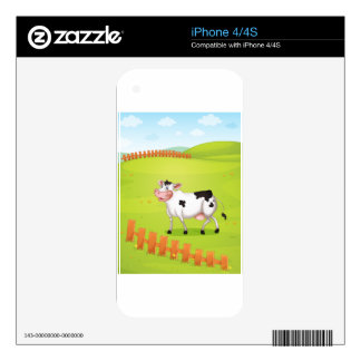 Vaca iPhone 4S Calcomanías