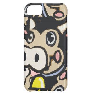 Vaca Kitschy del MOO de la lechería del arte pop e Funda Para iPhone 5C