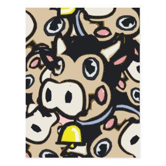 Vaca Kitschy del MOO de la lechería del arte pop Tarjeta Postal