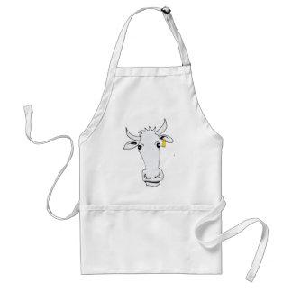 vaca larga delantal