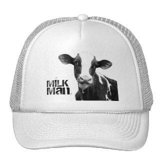 Vaca lechera - becerro blanco y negro de la lecher gorra