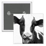 Vaca lechera - becerro blanco y negro de la lecher pin