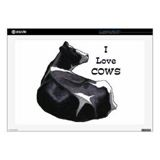 Vaca lechera de Holstein: Amo vacas: Arte original Calcomanía Para 43,2cm Portátil