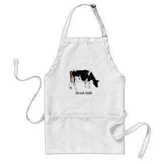 Vaca lechera de Holstein dibujo lineal leche Delantal