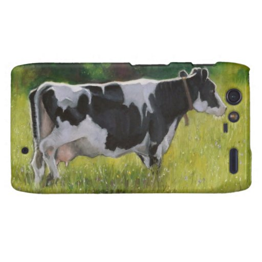 Vaca lechera de Holstein: Pintura en colores paste Droid RAZR Carcasa