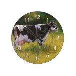 Vaca lechera de Holstein: Pintura en colores paste Relojes