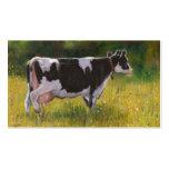 Vaca lechera de Holstein: Pintura en colores Tarjetas De Visita