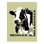 Vaca lechera de Moover Postal