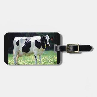 Vaca lechera de Wisconsin Etiqueta Para Maleta