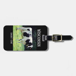 Vaca lechera de Wisconsin Etiqueta De Maleta