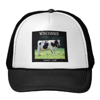 Vaca lechera de Wisconsin Gorros Bordados