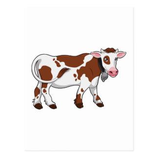 Vaca lechera del dibujo animado lindo tarjetas postales