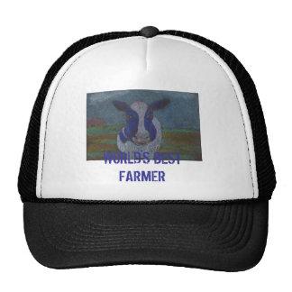 Vaca lechera del granjero orgulloso gorras