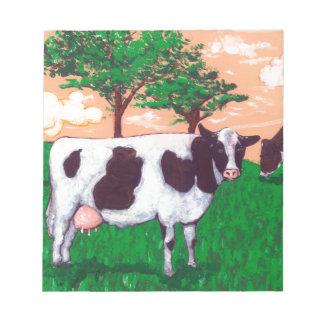Vaca lechera desafiante bloc de notas