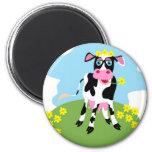 Vaca lechera imán para frigorífico