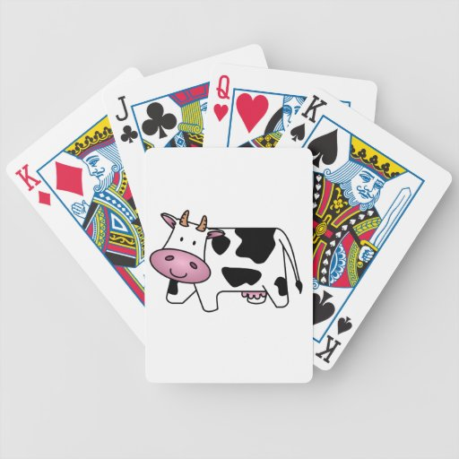 Vaca lechera linda baraja de cartas