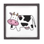 Vaca lechera linda cajas de recuerdo de calidad