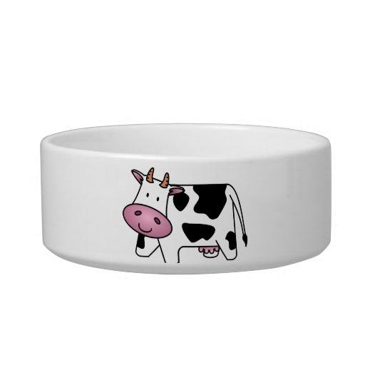Vaca lechera linda tazón para gato