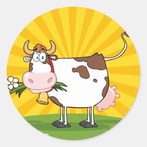 Vaca lechera pegatinas