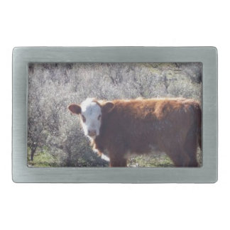 Vaca libre de la gama hebilla de cinturón rectangular