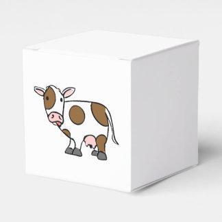 Vaca linda Brown del dibujo animado y blanco Caja Para Regalos