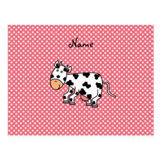 Vaca linda conocida personalizada postal