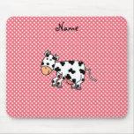 Vaca linda conocida personalizada tapete de raton