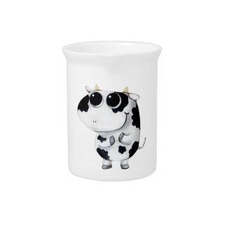 Vaca linda del bebé jarras
