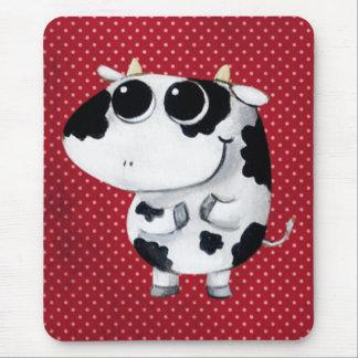 Vaca linda del bebé mousepad
