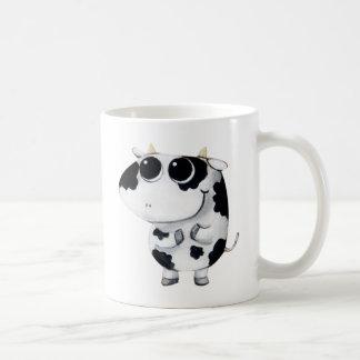 Vaca linda del bebé taza básica blanca