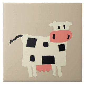 Vaca linda del dibujo animado tejas