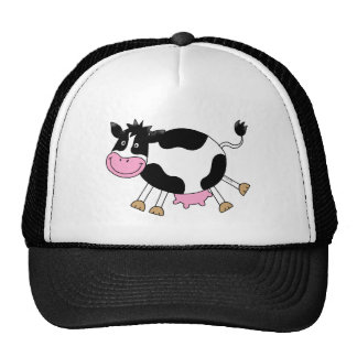 Vaca linda del dibujo animado gorros