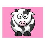 Vaca linda del dibujo animado postales