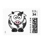 Vaca linda del dibujo animado sello