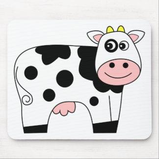 Vaca linda del dibujo animado tapetes de ratón