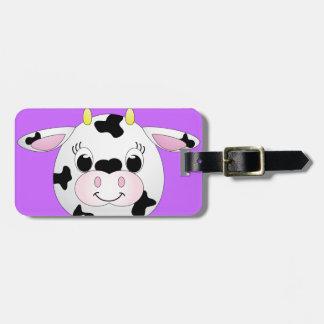 Vaca linda etiquetas maletas