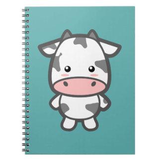 Vaca linda libro de apuntes con espiral