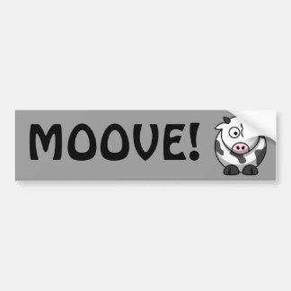 Vaca linda pegatina de parachoque