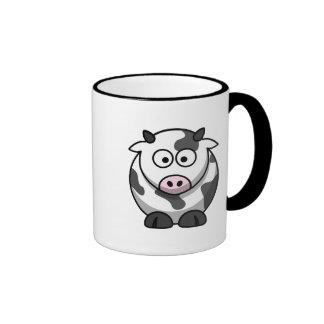 Vaca linda taza a dos colores