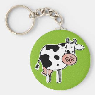 vaca llavero redondo tipo pin